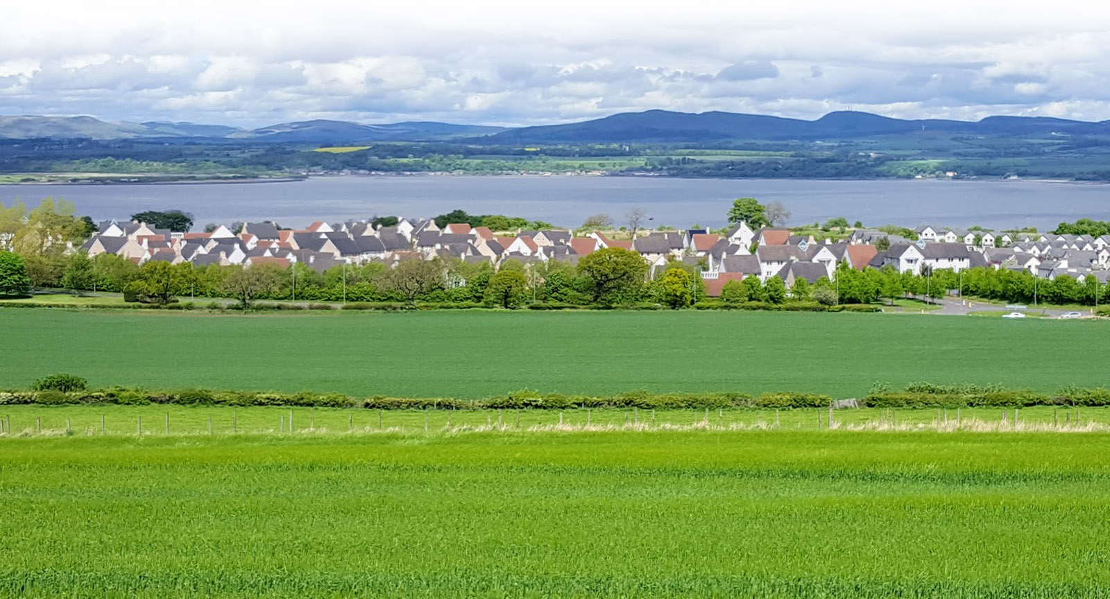 The view from the south of Bo'ness across the Forth to Fife.